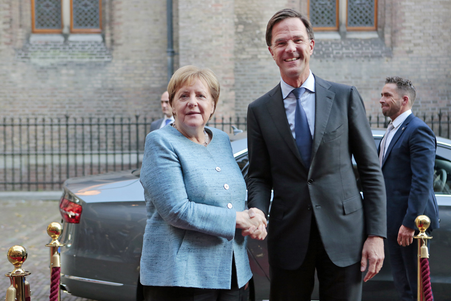 ANGELA MERKEL MARK RUTTE
